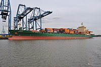 Carpathia Unloading at Tilbury docks - geograph.org.uk - 2091919.jpg