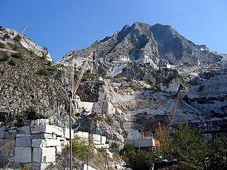 Carrara - A Carrara marble quarry.