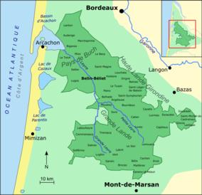 Map Of France Gascony.Landes De Gascogne Regional Natural Park Wikipedia