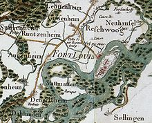 Fort-Louis carte cassini