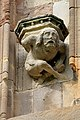Carved figure on Melrose Abbey - geograph.org.uk - 781602.jpg