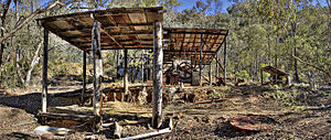 Cassilis, Victoria - Remains at the King Cassilis Mine