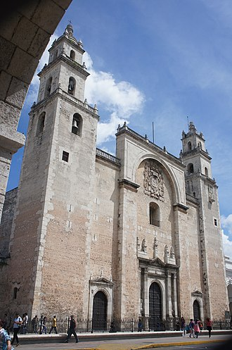 Religion in Mexico - The Catedral de San Ildefonso in Mérida, Yucatán is the oldest cathedral on mainland America.