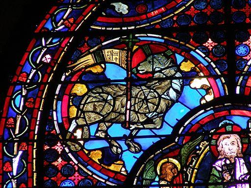 Cathédrale de Bourges - Vitrail de l'Apocalypse