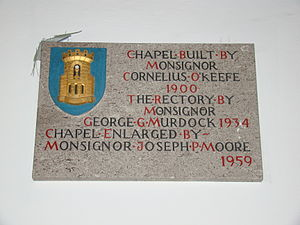 Chapel of the Most Holy Trinity (West Point) - Image: Catholic Chapel Info Stone, Chapel of the Most Holy Trinity, West Point, NY