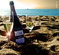 Cava Peralada for two at the beach . . . - panoramio.jpg