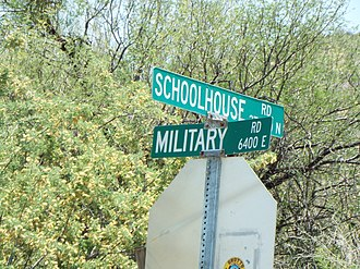 Stoneman Military Trail - Road sign which indicates where the Stoneman Military passed through