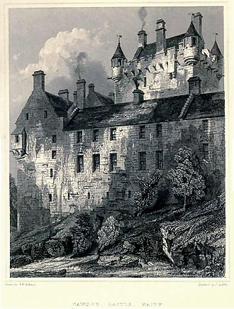 Cawdor Castle - The northwest corner of the castle, from Billings' Baronial and Ecclesiastical Antiquities of Scotland (1901)