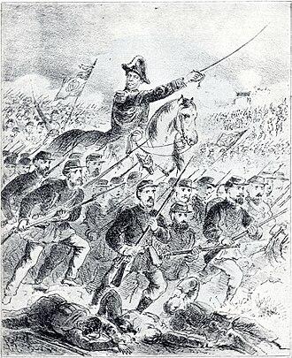 Battle of Ytororó - Caxias leading the Brazilian Army