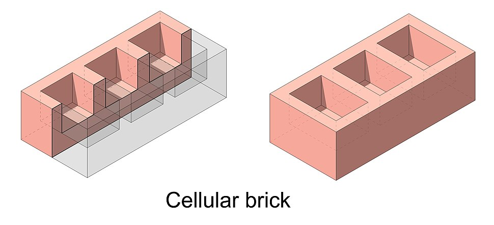 Cellular brick