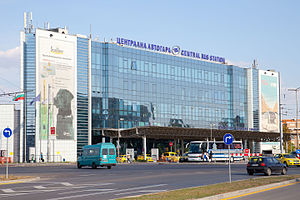 Transport in Bulgaria - The Central Bus Station in Sofia