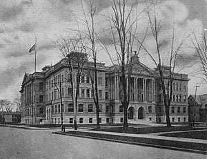 Central Technical High School - Vintage postcard image of Central Technical High School in Syracuse.
