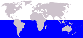 Description de l'image  Cetacea range map Antarctic Minke Whale.png.