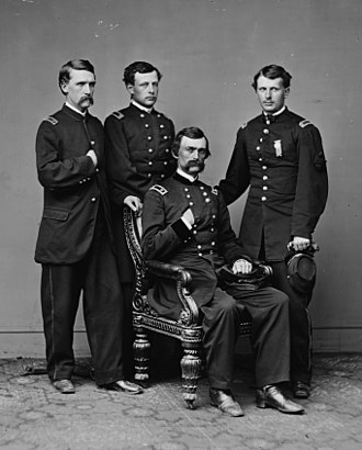 Charles Griffin - General Griffin and his staff