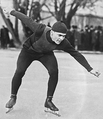Speed skating at the 1924 Winter Olympics – Men's 500 metres - Gold medallist Charles Jewtraw in 1921
