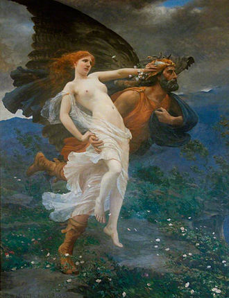 Orithyia of Athens - Image: Charles William Mitchell The flight of Boreas with Oreithyia, 1893
