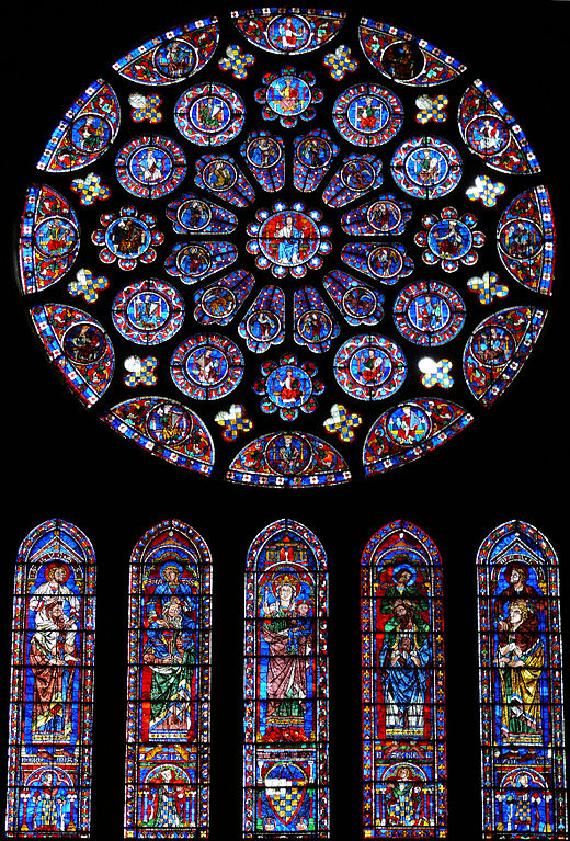 Cattedrale di Chartres, vetrate del transetto sud