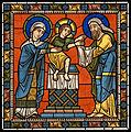 Chartres VITRAIL DE LA VIE DE JÉSUS-CHRIST Motiv 11 La présentation de Jésus au vieillard Siméon.jpg