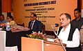Chaudhary Birender Singh addressing the Northern Region Customer's Meet, an interaction for increasing steel use in Haryana, organised by the Steel Authority of India Ltd. (SAIL) and Rashtriya Ispat Nigam Ltd. (RINL).jpg