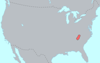 Original distribution of the Cherokee language