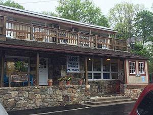 Chester Springs, Pennsylvania - Chester Springs post office on Route 113