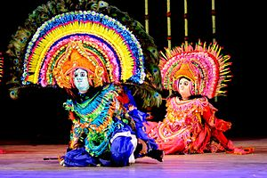 Chhau dance - Artistes from Purulia district of West Bengal performs Chhau dance