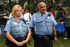 Chicago Police Department - Chicago Police Department officers in Marquette Park.