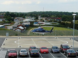 Shirebrook - Private helicopter at Sports Direct