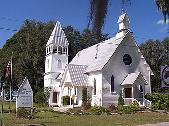 Fort Meade, Florida - Christ Church built in 1889.