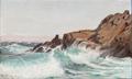 Christian Blache - Kystparti fra Kullen med brydende bølger - 1903.png