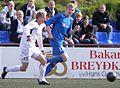 Christian Restorff Mouritsen, B36 player and Brandur Suðuroy, FC Suðuroy player.jpg