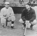 Christy Mathewson and Joe Wood photograph probably 1917 BBHOF.png