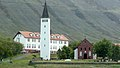 Church in Hólar with Hólar University College in the background.jpg