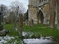 Churchyard and West Door - geograph.org.uk - 1733416.jpg