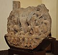 Circular Plaque Showing Surya with Family - Circa 9th Century CE - Churi Wali Street - ACCN 68-1 - Government Museum - Mathura 2013-02-23 5164.JPG