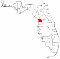 佛罗里达州柑橘县地图