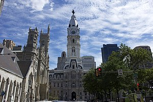 Broad Street (Philadelphia) - City Hall and Masonic Temple, Philadelphia