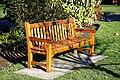 City of London Cemetery Memorial Gardens memorial bench seat 01.jpg