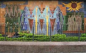 Clóvis Graciano - Image: Clóvis Graciano, mural Nações Unidas