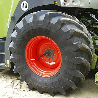 Trelleborg (company) - Trelleborg tire TM 2000 on a forage harvester (fitted with CTIS)