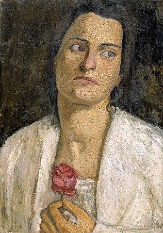 德國畫家寶拉·莫德索恩-貝克爾所繪的克拉拉.衛絲陀芙肖像。