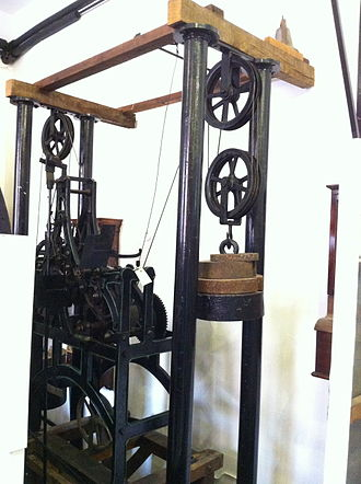 G. & F. Cope - Clock by Cope built for the General Cemetery, now in Nottingham Industrial Museum