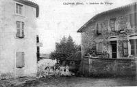 Clonas sur Varèze, intérieur du village en 1907, p 60 de L'Isère les 533 communes - D.C.tif