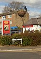 Closeup of the crow's nest outside the Crows Nest, Llanyrafon, Cwmbran - geograph.org.uk - 1704259.jpg