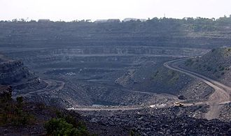 Coal mining - A coal mine in Bihar, India.