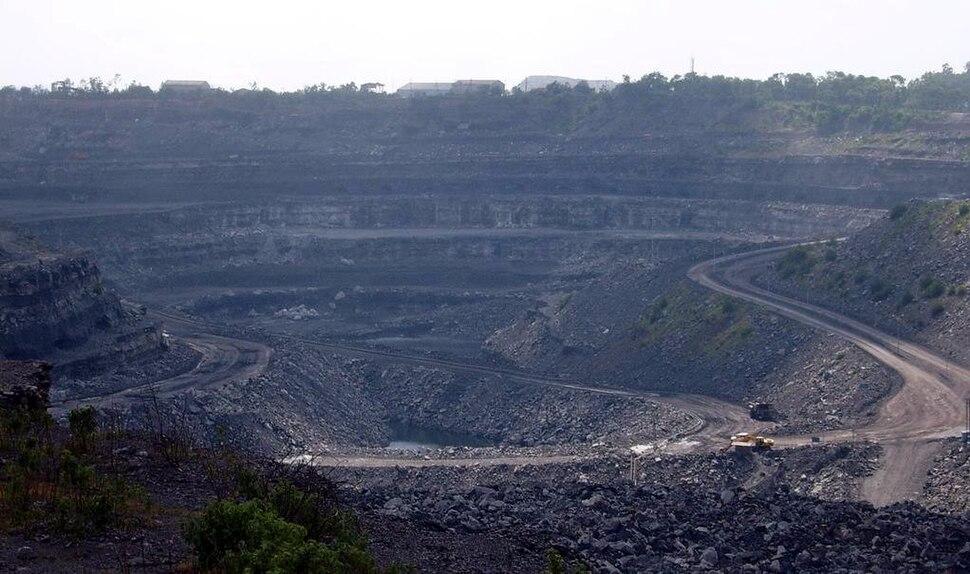 Coal mine in Dhanbad, India