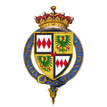 Coat of arms of Edward Montagu, 2nd Earl of Manchester, KG.png