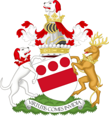 Coat of arms of the viscount Hereford - Premier viscount of England.png