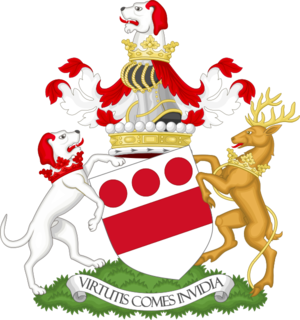 Robert Devereux, 18th Viscount Hereford - Image: Coat of arms of the viscount Hereford Premier viscount of England