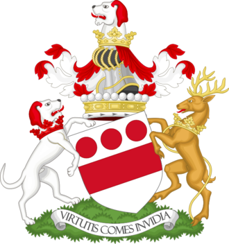 Viscount Hereford - Image: Coat of arms of the viscount Hereford Premier viscount of England